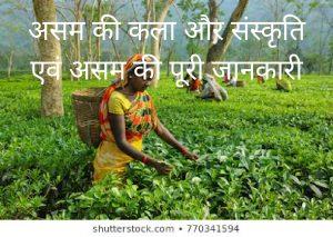 असम की कला और संस्कृति और असम की पूरी जानकरी