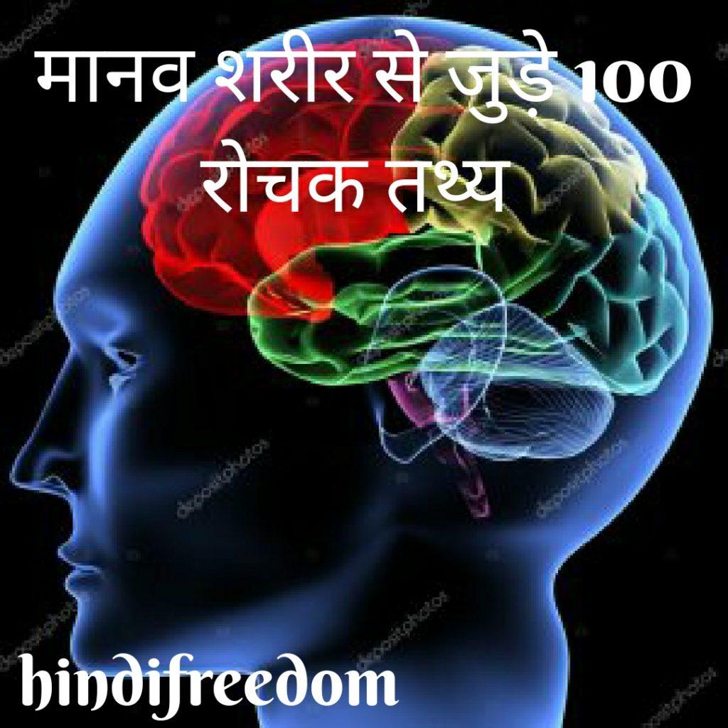 मानव शरीर से जुड़े 100 रोचक तथ्य